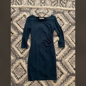 LOFT Shirred Teal Dress